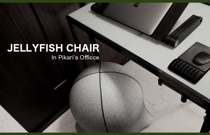 JELLYFISH CHAIR In Pikari's Officce